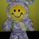 Dan Dee Smiley Face Giggling Singing EASTER BUNNY Giggle Blue Doll
