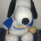 "METLIFE SNOOPY BASEBALL PLUSH  "" IT'S A WHOLE NEW BALLGAME"""