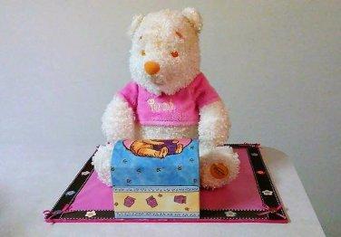 Disney-Winnie-The-Pooh-Pink-Shirt-Plush-With-Jewelry-Box-Girls-Room-Decorator