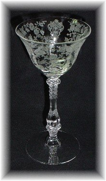Liquor Cocktail Cambridge Rosepoint Crystal Stem 3 oz