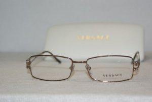 Brand New Versace Shiny Brown Eyeglasses: Mod. 1092-B (1045) 51-16 & Case