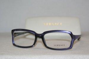 New Versace Shiny Purple Eyeglasses: Mod. VE 3143 (907) 52-16 & Case