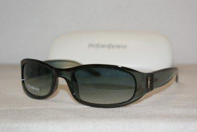 New Yves Saint Laurent YSL Blue/Green Sunglasses: Mod. 2058 (0T2F) 55-19 & Case