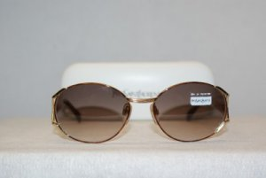 New YSL Yves Saint Laurent Vintage Gold Sunglasses: Mod. 6036 & Case