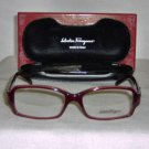 Brand New Salvatore Ferragamo Wine Eyeglasses: Mod. 2640-B & Case
