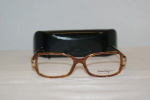 New Salvatore Ferragamo Caramel Eyeglasses 2664-B &Case