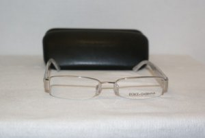 Brand New Dolce & Gabbana Silver Marble Eyeglasses: Mod. 1155 (290) 50-17 & Case