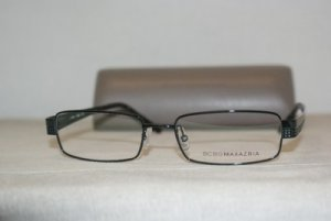 Brand New BCBG Maxazria Blue Ink Eyeglasses: Mod. Enzo 54-17 & Case