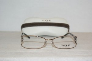 Brand New Vogue Light Gold Eyeglasses: Mod. 3726-B (848) 54-17 & Case