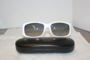 Brand New Ralph Lauren White Sunglasses: Mod 886 & Case