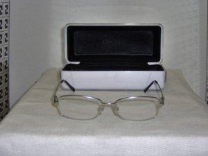 New Donna Karan Silver Eyeglasses: Mod. 3548B w/case