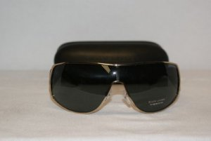 New Ralph Lauren Gold Black Sunglasses: Mod 1519 & Case