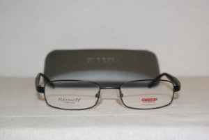 Brand New Carrera Black Eyeglasses: Mod. 7483 (091T) 52-18 & Case
