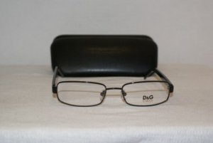 New D&G Dolce & Gabbana Black Eyeglasses: 5048 & Case