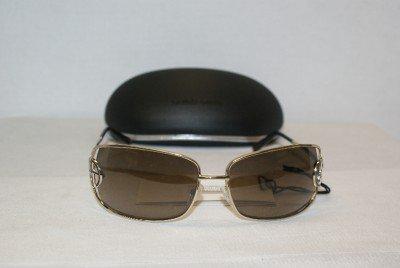 New Giorgio Armani Light Gold Sunglasses: Mod 446 &Case