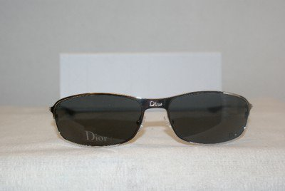 New Christian Dior Gunmetal Sunglasses Hard Dior 2 Case
