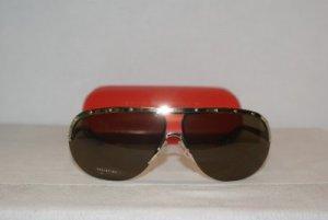 Brand New Valentino Gold Horn Sunglasses: Mod. 1188 (SUO) & Case