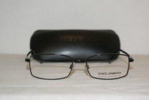 Brand New Dolce & Gabbana Shiny Black Eyeglasses: Mod. 1177 (01) 52-17 & Case