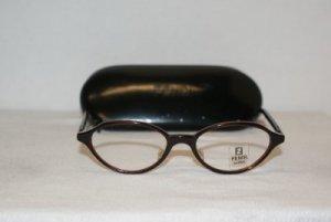 B. New Fendi Espresso Eyeglasses: Mod. 85 50-18 & Case