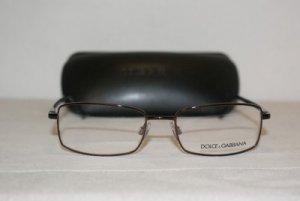 Brand New Dolce & Gabbana Shiny Brown Eyeglasses: Mod. 1177 (119) 52-17 & Case