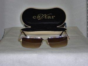 Brand New Caviar Gold Sunglasses: Mod. 1714 & Case
