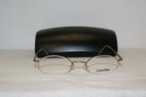 Brand New Calvin Klein Gold Eyeglasses: Mod. 343 (525) 47-20 & Case