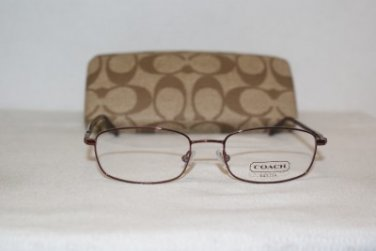 New Coach Riley Bordeaux 51-17 Eyeglasses: Mod. Riley 51-17 & Case