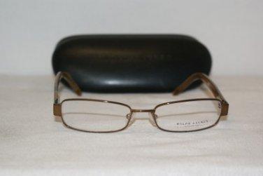 New Ralph Lauren Brown Eyeglasses: Mod 1497 (65Y) 50-16 &Case