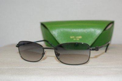 New Kate Spade Madera Shiny Gunmetal Sunglasses: Mod. Madera (01C7) 52-19 & Case