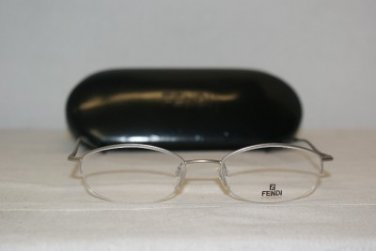 Brand New Fendi 552 Palladium 49-18 Eyeglasses: Mod. 552 & Authentic Case