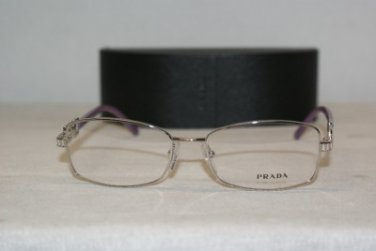 Brand New Prada 54M Silver 1BC-1O1 Eyeglasses: Mod. VPR 54M (1BC) 52-16 & Case