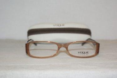 Brand New Vogue 2650 Transparent Brown 52-16 Eyeglasses: Mod. 2650 (W971) & Case