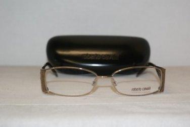 Brand New Roberto Cavalli 480 Gold 53-15 Eyeglasses: Mod. 480 (034) & Case