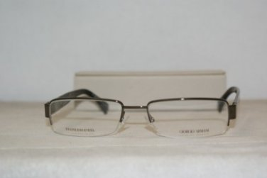 New Giorgio Armani 711 Shiny Brown 54-18 Eyeglasses: Mod. 711 (0A40) & Case