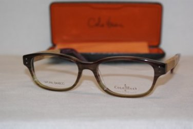 Brand New Cole Haan Eyeglass Mod. 961 Col. Plum Horn 53-17-145 & Case