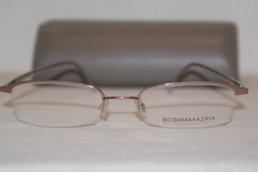 Brand New BCBGMaxazria Eyeglass Mod. Remy Col. Rose 52-19-145 & Case