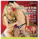 MENAGE A TROIS DOUBLE PENETRATION THONG STYLE HARNESS & DILDO SET STRAP ON