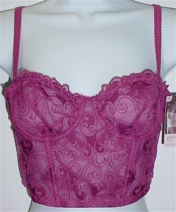 34A ~ Gilligan & O'Malley Luxe Unpadded Rose Splendor Corset Bustier Bra #134973 34 A