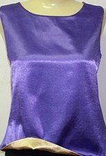 Contessa Di Roma Reversible 4-Way Silky Satin Cami Camisole Sleeveless Tank Top #426 XL