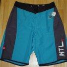 Hurley Blue/Black River Jettys Board Shorts Swim Trunks Swimsuit Bathing Suit ~ Youth Mens 28