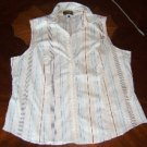 Great white sleeveless stretchy shirt - 2X