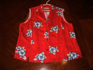 Cozy red summer shirt - 2X