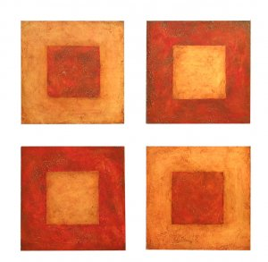 Red Zen Squares