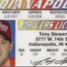 TONY STEWART DRIVERS LICENSE