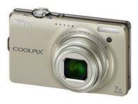 ***Nikon COOLPIX S6000 14.2 MP Digital Camera - Champagne silver***LQQK
