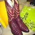 **NEW MEXICAN Mens Crocodile Cocodrilo Cola Vino VinePrint Cowboy Boots**LQQK