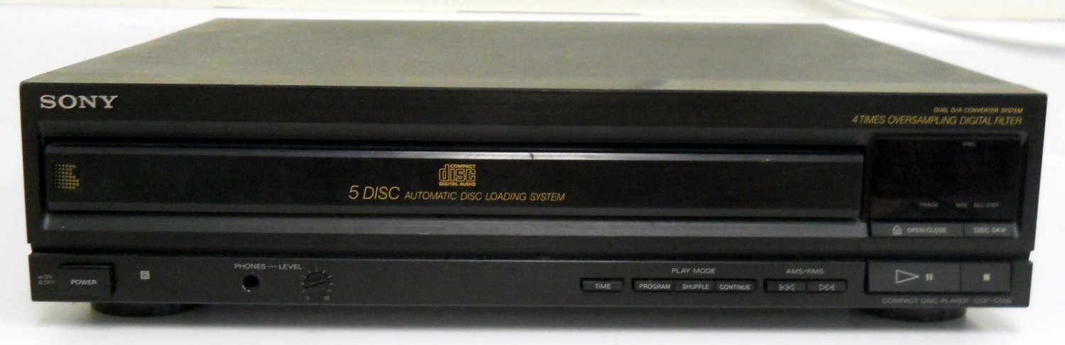***Sony CDP-C500 Compact Disc Player CD Changer w/ 5 Disc Automatic***LQQK