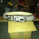 #11 Mexican Charro Saddle Belt With Buckle Piteado Espuelas Size 36