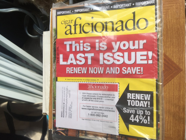 Cigar aficionado magazine December 2011