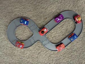 KOOL WHEELS Racetrack + 2 Soft Cars Playset (compatible w/Playskool Wheel Pals+Fisher Price Wheelies